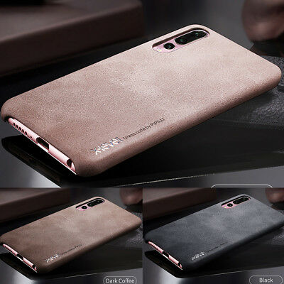 For Huawei P20 Lite/Pro Retro Genuine Leather Back Case Shockproof Slim Cover