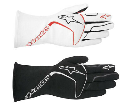 ALPINESTARS FIA gloves TECH 1-RACE WHITE, BLACK rally racing CLEARANCE SALE!