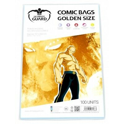 Ultimate Guard Golden Size Acid-Free Comic Bags - Qty 100