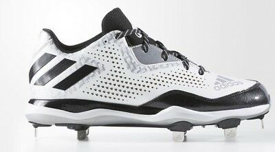 the best attitude dcf92 e6f58 adidas PowerAlley 4 Metal Baseball Cleats Q16492 White Black Silver size 9  New
