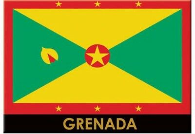 "Grenada Flag Caribbean Fridge Collector's Souvenir Magnet 2.5"" X 3.5"""