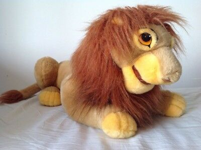 "Disney Lion King Simba Musafa 22"" Plush Lion Soft Toy Adult Simba Puppet Rare"