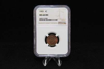 1903 Indian Head Penny NGC MS 64 BN 1C