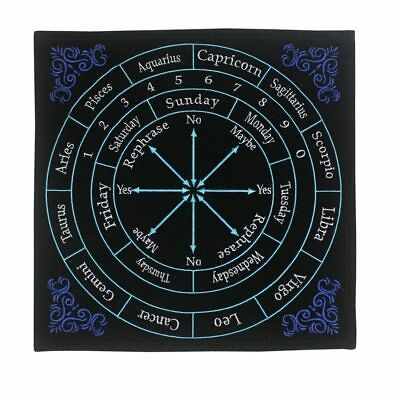 Embroidered Astrology Pendulum Mat 30 x 30cm ~ psychic divination wicca