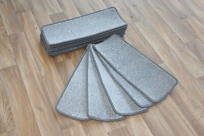 14 Open Plan Carpet Stair Treads Quality Trurus 290 Pads! 14 Large Pads!