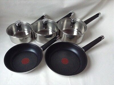 Tefal Emotion Stainless Steel Pan Set, Set of 5