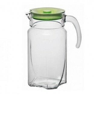 Glass Water Juice Decanter 1,7L Pitcher Jug Cocktail Wine Milk Fridge Carafe New