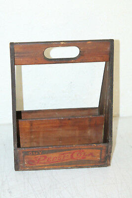 Antique Wooden Pepsi Cola Six Pack Bottle Carrier / Caddie, Wood Caddy, Holder