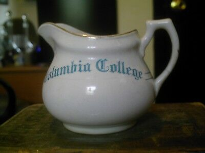 vintage Edwin M. Knowle china co. 1911 Columbia college creamer vitreous mark