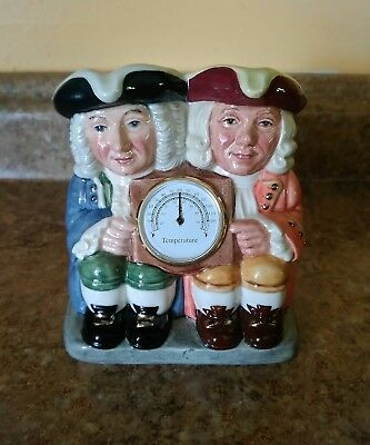 Royal Doulton double toby jug, Celcius and Fahrenheit
