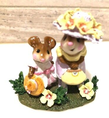 Wee Forest Folk Fancy That! M-292s  Limited Edition Mice Retired 2005 With Box