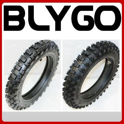 "2.50-10"" Fron t+ 3.00-10"" Inch Rear Back Knobby Tyre Tire + Tube PIT Dirt Bike"