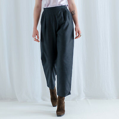 vintage damenhose / high waist pants / Laura Ashley / 90er kleidung / minimalist