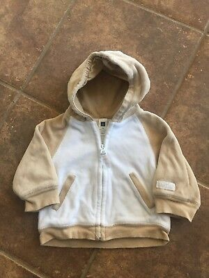 Baby boy clothes, 3-6 months, Original Baby Gap Tan Zipper hoodie -FREE SHIPPING