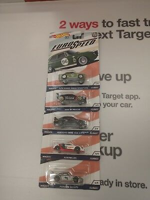 2018 Hot Wheels Car Culture Euro Speed Set Of 5 Real Riders Bnip