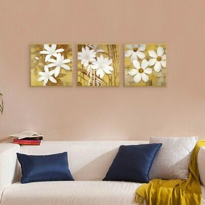 3Pcs Flower Print Wall Art Canvas Painting Picture For Living Room Home Decor