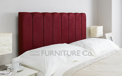Carini Deep Padded Upholstered Headboard Various Sizes and Colurs Plus Swatch