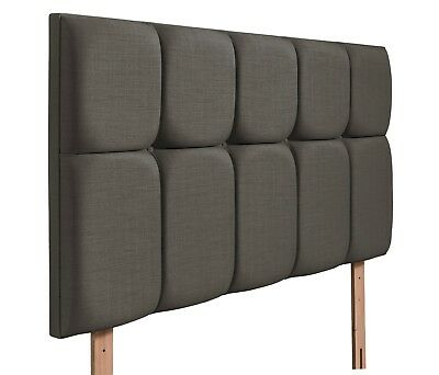 Vito Cube Deep Padded  Headboard Various Sizes and Colours Plus Swatch