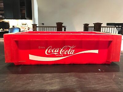 Vintage Red Plastic Coca-Cola Coke Stacking Bottle Carrier Case Crate
