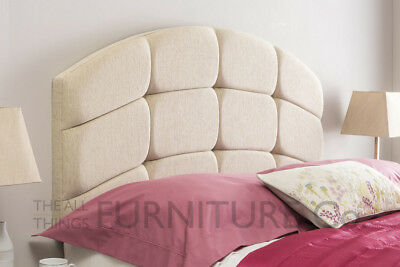 Ribera Cube Deep Padded Headboard Various Sizes and Colours Plus Swatch