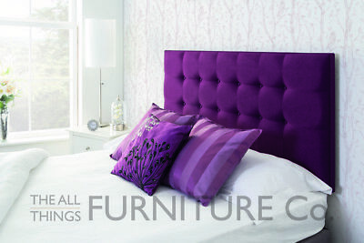 Enna Tufted Deep Padded Headboard Various Sizes and Colours Plus Swatch