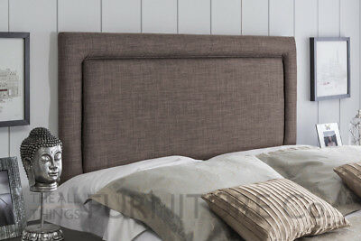 Adriano Deep Padded Upholstered  Headboard Various Sizes and Colours Plus Swatch