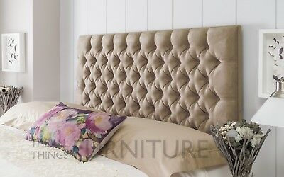 Avola Chesterfield Upholstered  Headboard Various Sizes and Colours Plus Swatch