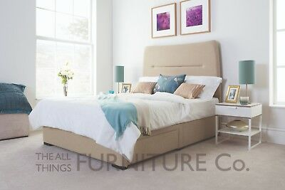 Agira Upholstered Floor Standing Headboard Various Sizes and Colours Plus Swatch
