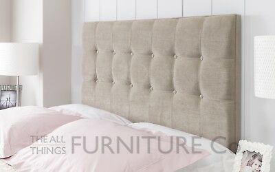 Luca Cube Floor Standing Headboard Various Sizes and Colours Plus Swatch