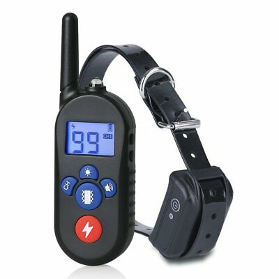 300M Waterproof Remote 100LV Electric Shock Anti-Bark Dog Training E-Collar