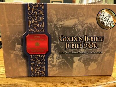 2002 Royal Canadian Golden Jubilee Mint Proof Set With Original Box