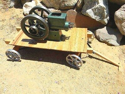 SCALE MODEL MINITURE Hit and Miss cart completely finished ready for your engine