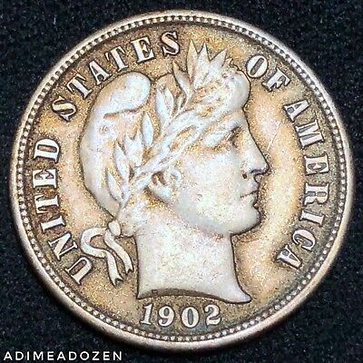 1902-P 10C Barber Dime AW673BY