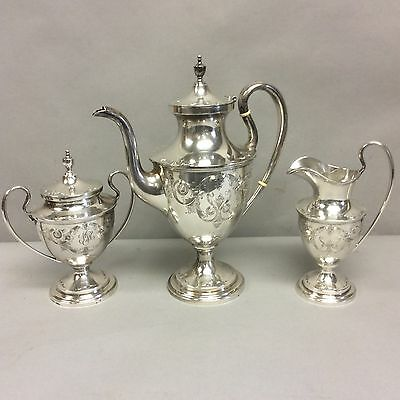 S. Kirk&Son Sterling Silver 3 Piece Tea Set