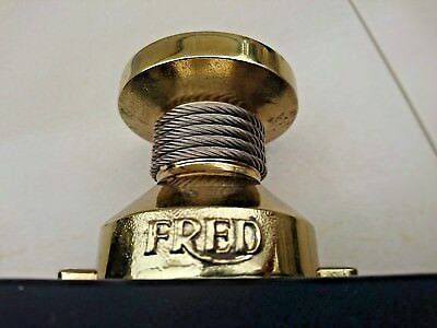 Fred Paris force 10 gold tone brass cable promotional store advertising