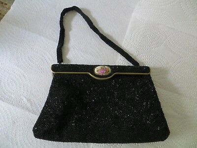 """Vintage """"freddy"""" Hand Beaded Evening Bag Made In Paris"""