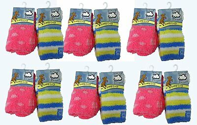 World's Softest Youth Cozy Crew Ages 4-7/8-12 Socks Lot Of 44 NWT