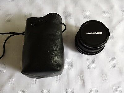 HANIMEX MC 28mm f2.8 M42 WIDE ANGLE LENS VERY GOOD COND IN SOFT CASE.
