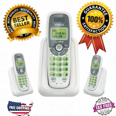 Cordless Home Phone Vtech Dect 6.0 Telephone w/o Answering Machine 1 Set System.