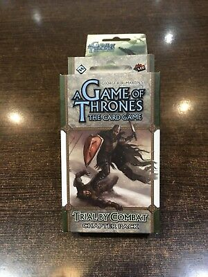 A Game of Thrones TRIAL BY COMBAT Chapter pack Fantasy flight LCG