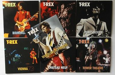 MARC BOLAN / T.REX : SET of 6 PROMO DISCS FROM EASY ACTION INCLUDES BONUS DISC