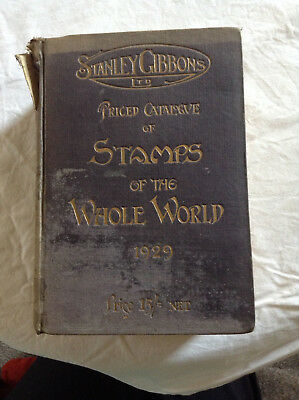 Vintage STANLEY GIBBONS Catalogue Stamps Of The Whole World 1929
