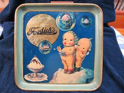 Fosdick's Ice Cream Serving Tray Kewpie Dolls by Rose O'Neil
