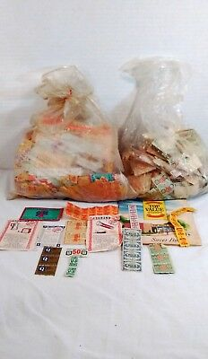 Vintage 2 pound lot of savings / redemption stamps, coupons, a few books
