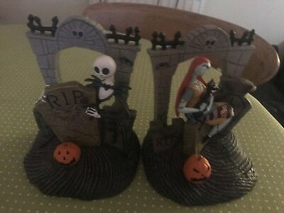 Nightmare Before Christmas Jack and Sally Bookends