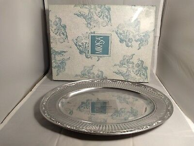 "Mikasa Italian Countryside Aluminum Serveware 17 1/2"" Oval Platter with Box"