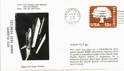Dr Jim Stamps Us Dtv Flight Drop Test Vehicle Space Embossed Cover 1977