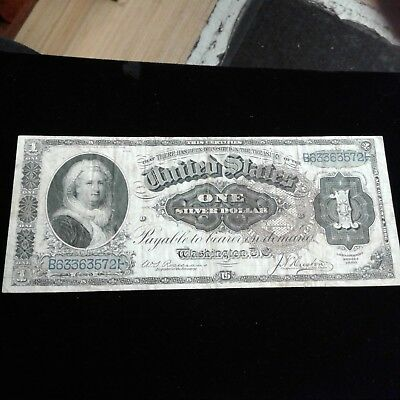 1886 $1 Silver Certificate MARTHA  big brown spiked seal