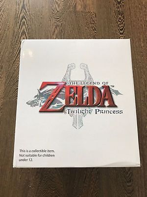 Legend Of Zelda The Twilight Princess Link On Epona Gold Statue Rare Collectable