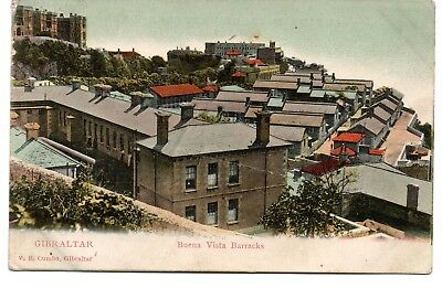 Gibraltar, Buena Vista Barracks, & others (5) Colour Postcards, C 1904